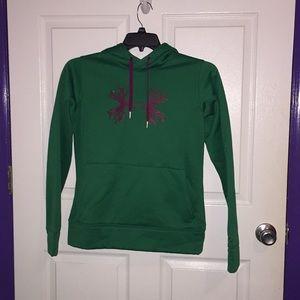 Green Under Armour sweatshirt